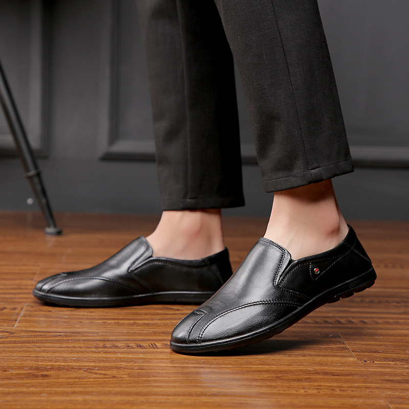 Black De brown Grande Sapato Dirigindo Sapatos Homem Tamanho Mocassins Homens Para Genuíno Casuais Plataforma 46 Slip Mola Jovem 2019 Da Vaca 37 on Couro fwBxFgY