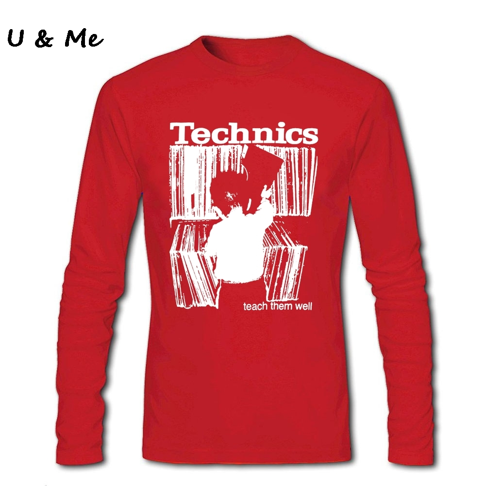 Technics T Shirts Men Good Top Quality Hipster Shirt Awesome Custom