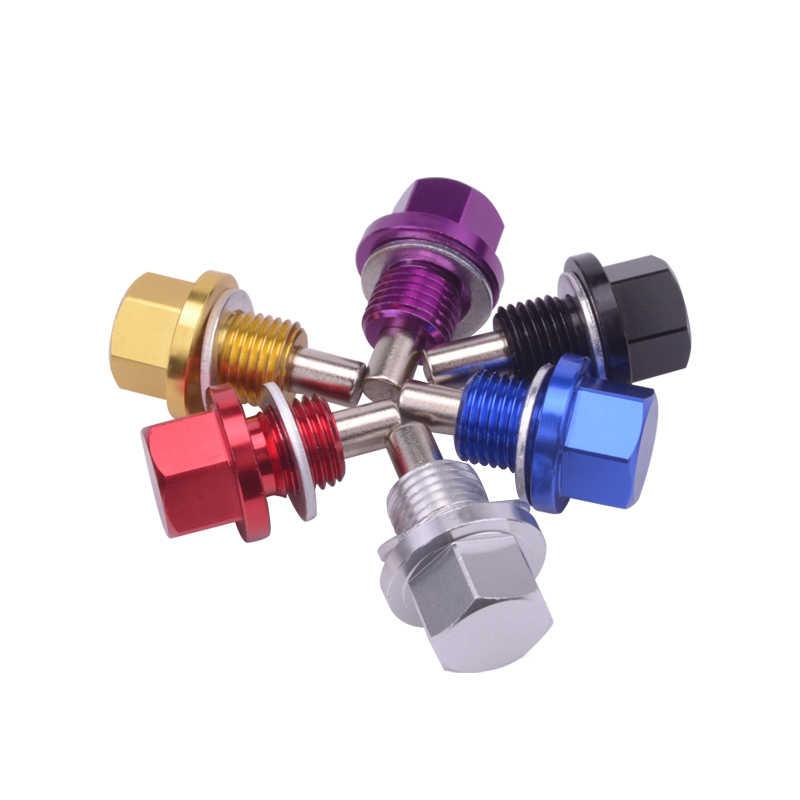 Speedwow M14 * 1.25 Magnetische Motor Olie Afvoer Magnetische Olie Pan Drain Plug Bout Moer Voor Meest Honda Mitsubishi Mazda