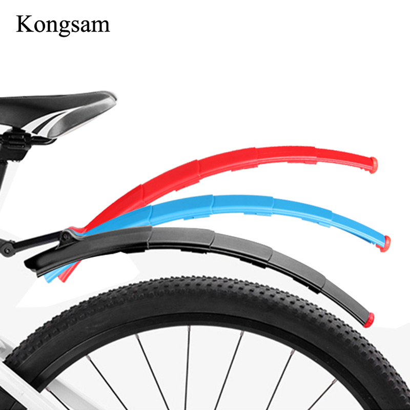 Bicycle Cycling Front Rear Mud Rain Guard Mountain Bike Fenders Black Red
