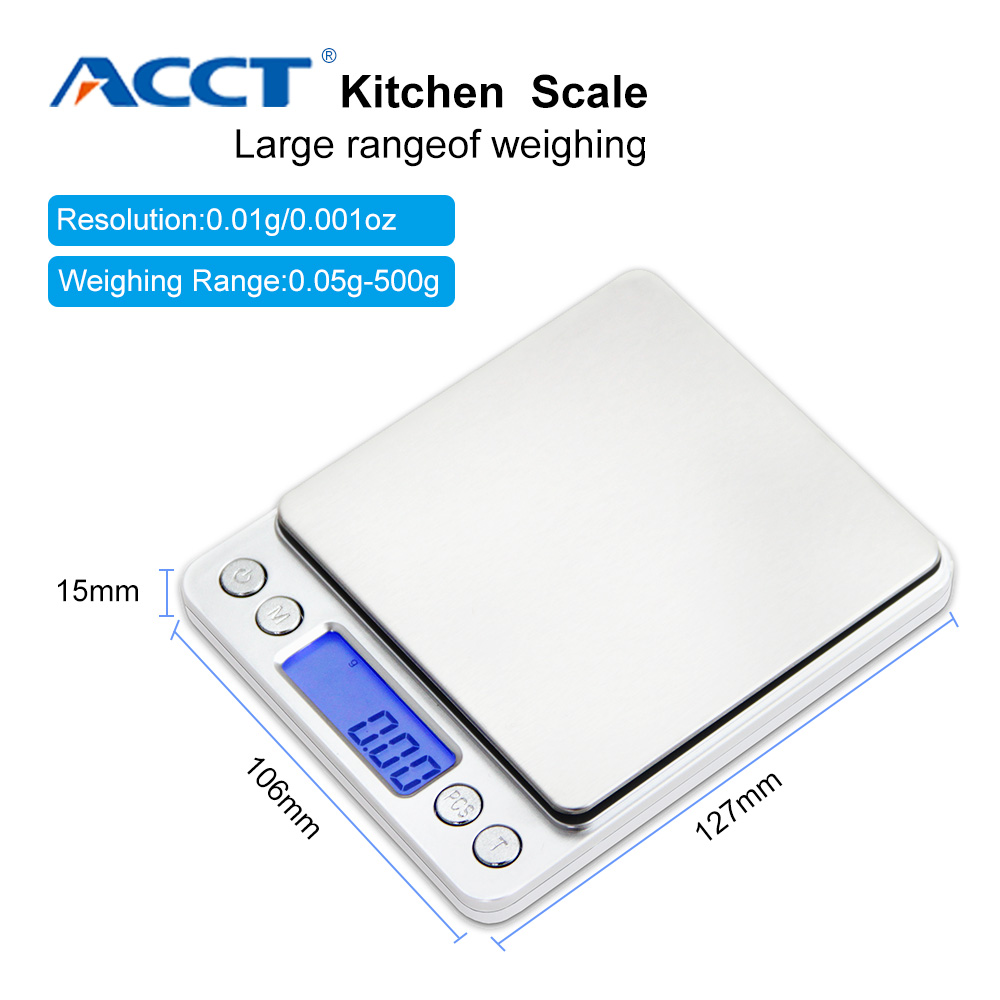 Cantar de bucătărie 3000g x 0.1g Mini portabil digital pentru scala de buzunar 3kg 0.1 Bijuterii de precizie Balanță electronică Greutate Gold Gram