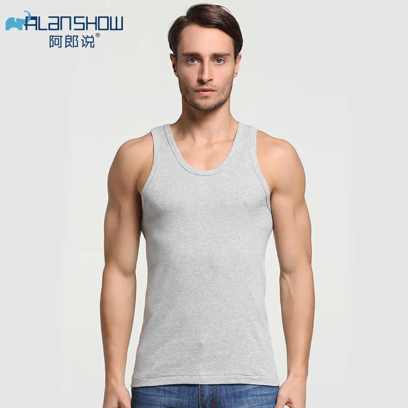 3 ชิ้น/ล็อตฤดูร้อนชายผ้าฝ้ายชุดชั้นในบุรุษเสื้อกล้ามโปร่งใสชายเสื้อ Bodyshaper ฟิตเนสมวยปล้ำ Singlets