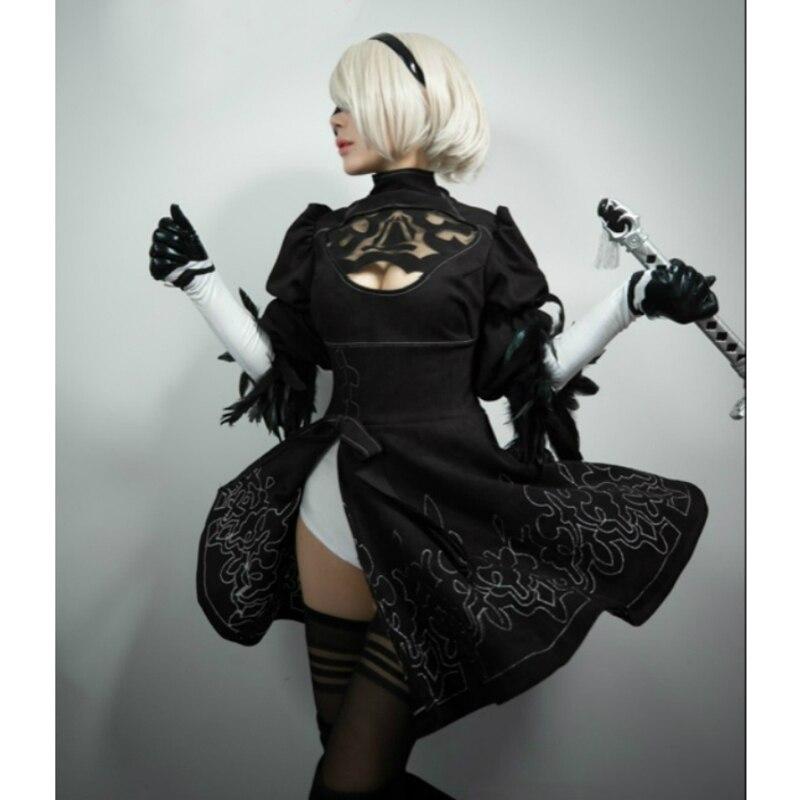 Nier: Automata YoRHa №2 Model B Cosplay Geyim Uniformaları Qadın - Karnaval kostyumlar - Fotoqrafiya 5