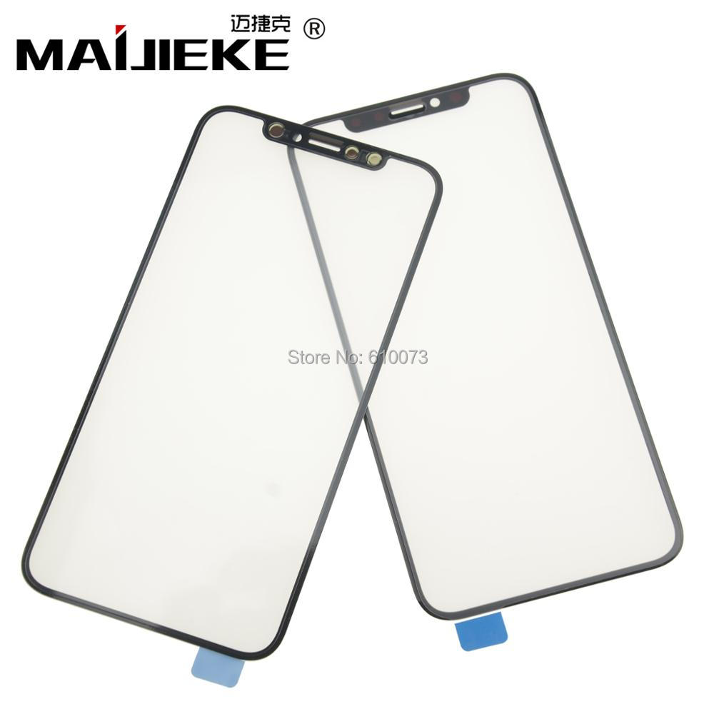 2XMAIJIEKE Original Front Glass For Apple iPhone XS Max XR X Glasss Touch Screen Lens LCD Outer