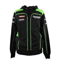 Kawasaki Equipe Roupas 100% de Algodão dos homens novos Hoodies Camisolas de MotoGP Motocicleta Jaquetas de Esportes de Inverno