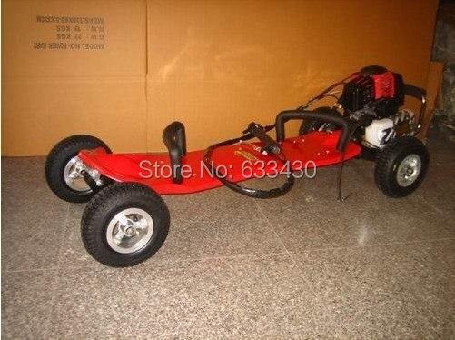 Газовый скейтборд Бензиновый Мотор скутер 49cc моторизованный резиновое колесо двойной очистки таможни и включает таможенные сборы
