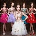 С v-образным вырезом пром ну вечеринку платья короткая вечерние платья одеяние де вечер vestido де casamento лонго com TK490