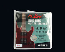 Free Shipping 50pcs Lot Alice A503 Light 010 Steel 1st E First Single Electric Guitar Strings