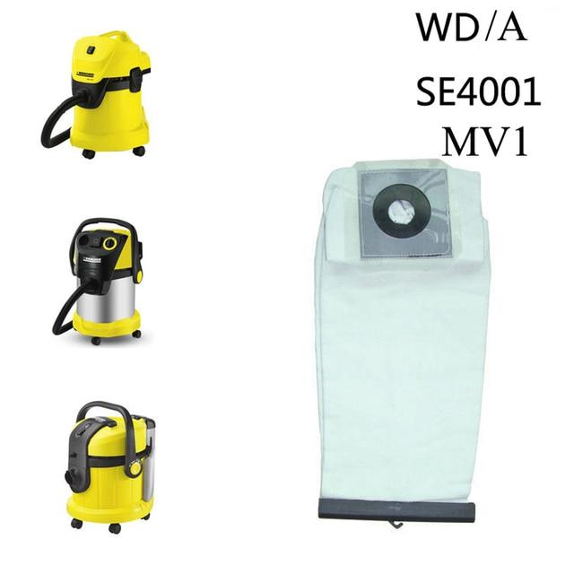 Vacuum Cleaner Lavabili di Stoffa Borse Sacchetto di Polvere di Ricambio per Karcher A2204 A2054 A2656 WD2.250 WD3.200 WD3.300 WD5.200 MV1