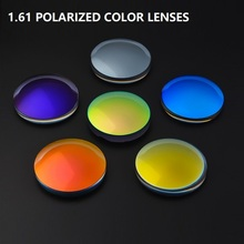 1.61 Spherical Polarized Colorful Myopia Eyeglasses Lenses Prescription Optical Customize Brand Myopia Sunglasses Resin Lenses myopia tinted film eyeglass sunglasses lenses color dyed sheet gradient resin lenses large diameter custom prescription lenses