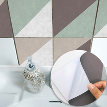 Oblique Plaid Concrete Classic Style Decorative Kitchen Dinning Room Decals Bathroom Wall Tile Stickers Home House Tiles Sticker