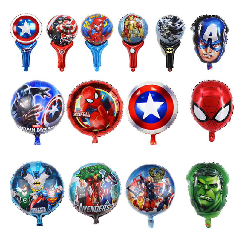 1PCS Marvel Avengers4 Foil Balloons Figures Toys Captain America Iron Man Spiderman Hulk Balloons Kids Birthday Party Decoration