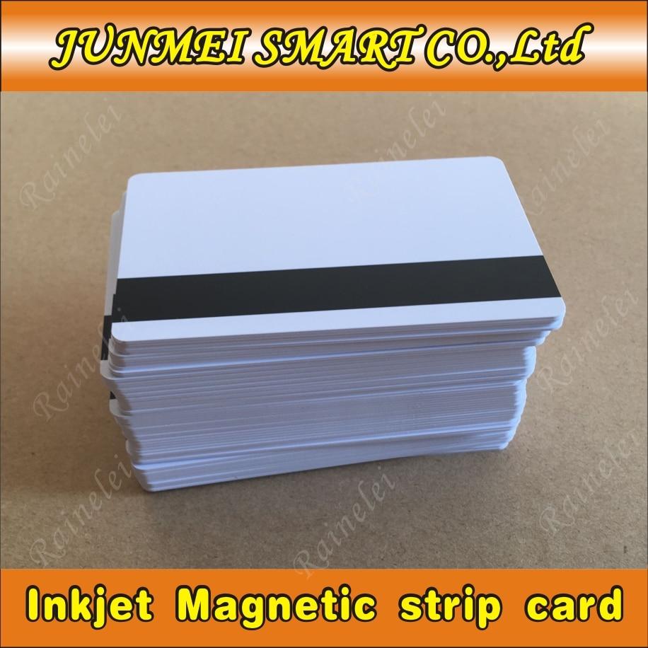 10 stücke/50 stücke PVC Leere Weiße Kunststoff Karten 30Mil Hico karte Mag Streifen druckbare für inkjet drucker CR80