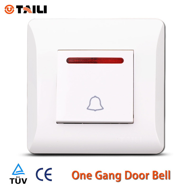 TAILI Brand EU Standard Door Bell Wall Switch Push button switches ...