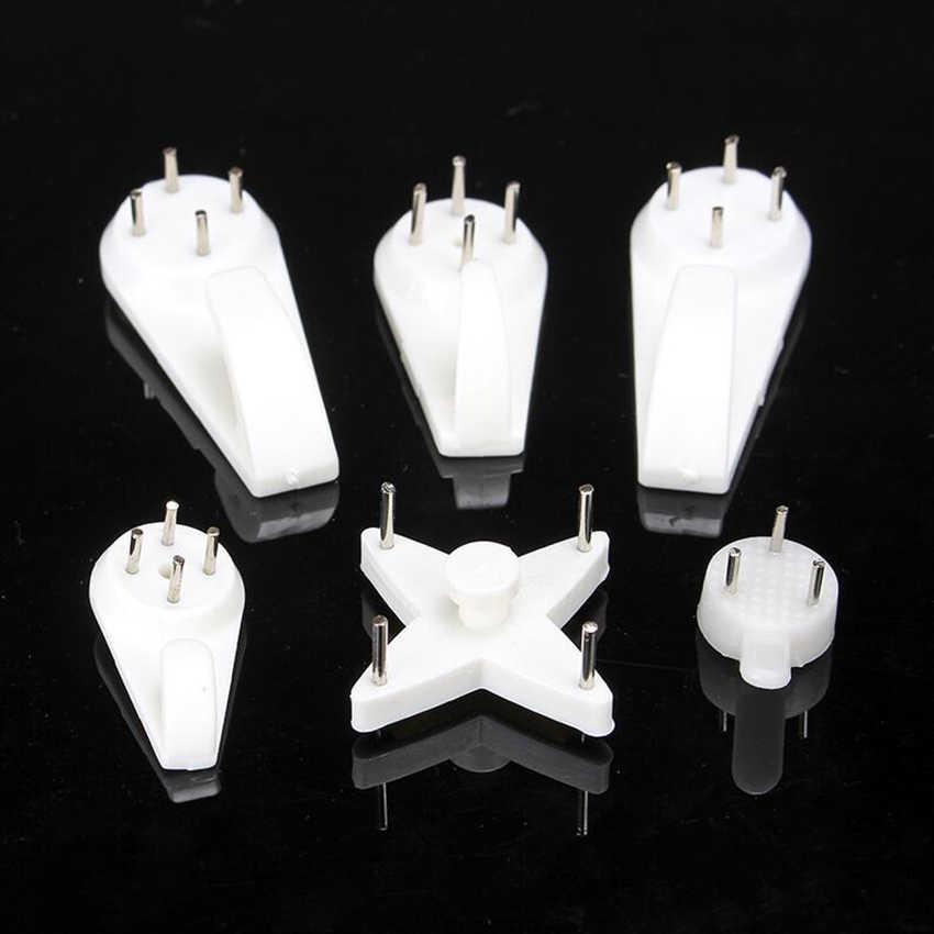 5 типов белый пластиковый Невидимый настенный фоторамка для фотографий крючок для ногтей вешалка легко фиксируется без следа