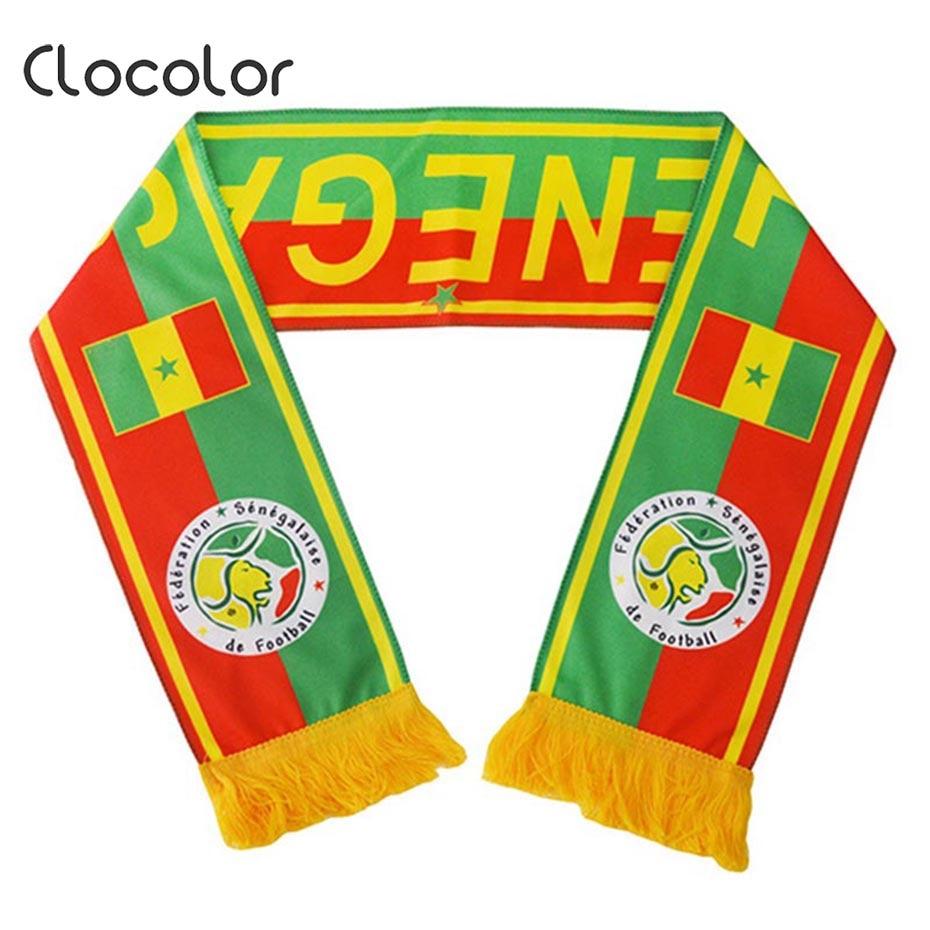 Clocolor Neck Scarf Cotton Print Soft Fan Win Flag Cheerleader Banner Souvenir 2018 Soccer Multicolor Hot Sale
