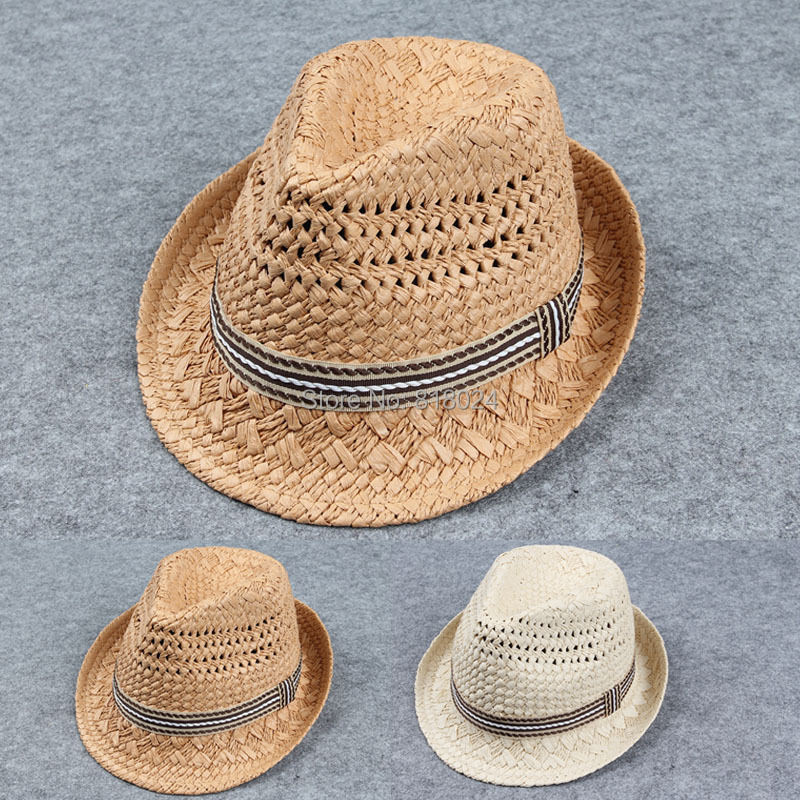 Retail High Quality Children Hat Fedoras Baby Summer Sun Cap Kids Fedora Hat Boys Girls Straw Jazz Cap