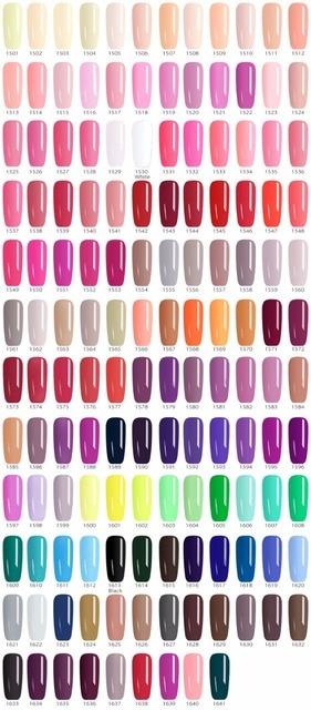 141pcs*5ml Nail Gel Color Varnish Ink CANNI Hot Sale Nail Art Salon Manicure Whole Set Colors LED Gel Lacquer Paint UV Gel