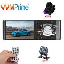 """AMPrime 1 Din 4.1 """"Car Radio Autoradio Stereo FM Bluetooth USB AUX FM Radio MP3 Audio Player di Sostegno Della Macchina Fotografica a distanza di Controllo 4012B"""