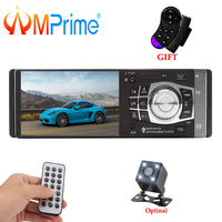 AMPrime 1 Din 4.1 Car Radio Autoradio Stereo FM Bluetooth USB AUX FM Radio MP3 Audio Player Support Camera Remote Control 4012B