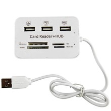 Micro USB Hub Combo 2.0 3 Ports Card Reader High Speed Multi USB Splitter Hub USB Combo All In One PC Computer Accessories