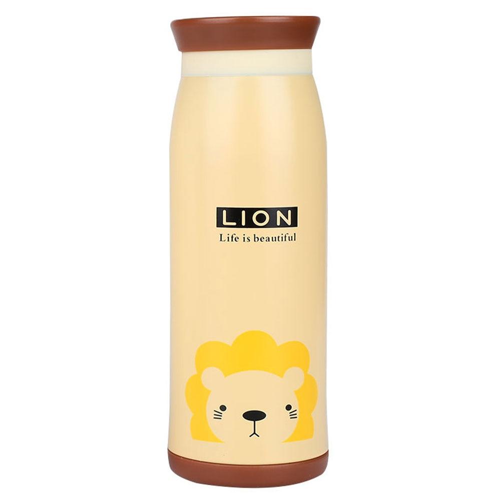 Термочашка Вакуумная чашка двухслойная мультфильм изоляционная чашка животный узор чайный напиток креативный - Цвет: Lion
