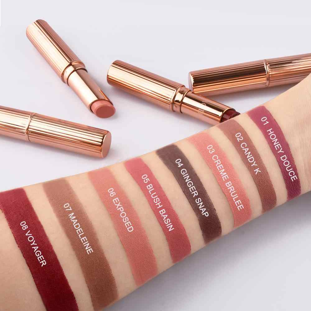 NAQIER 8 colores mate lápiz labial maquillaje maquiagem impermeable de larga duración utritious líquido terciopelo barra de labios nude cosmético