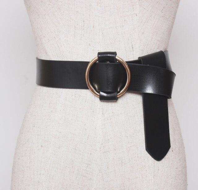 Европа старинные рулевой кожаный пояс женщины черный пояс дикий пальто платье аксессуары мода люксовый бренд дизайнер уникальный пояс