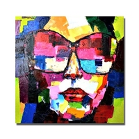Abstract Portrait Wall Art Living Room Decoration Hand Painted Oil Painting on Canvas Cheap Art Paintings No framed