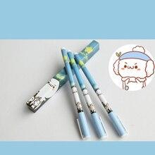 6 шт. Японского аниме Милый творческий траве черный Гелевая ручка подписание pen Аниме вокруг каждый в индивидуальной упаковке