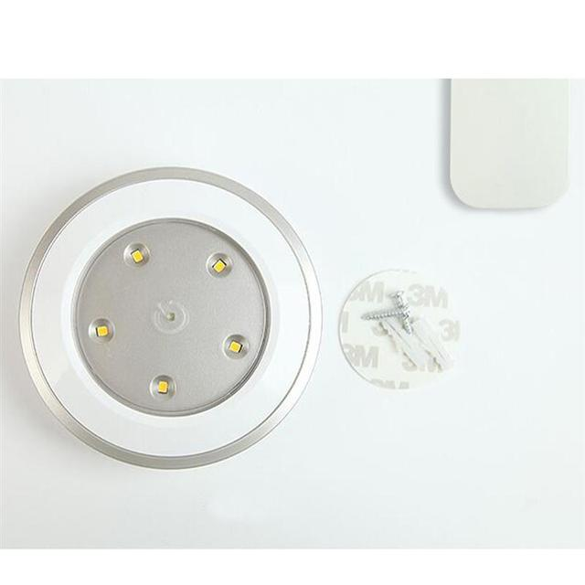 3 Pcs/Set 0.5W LED Wireless Under Cabinet Kitchen Lighting Kit Battery-Powered Under Counter Lighting with Remote Control
