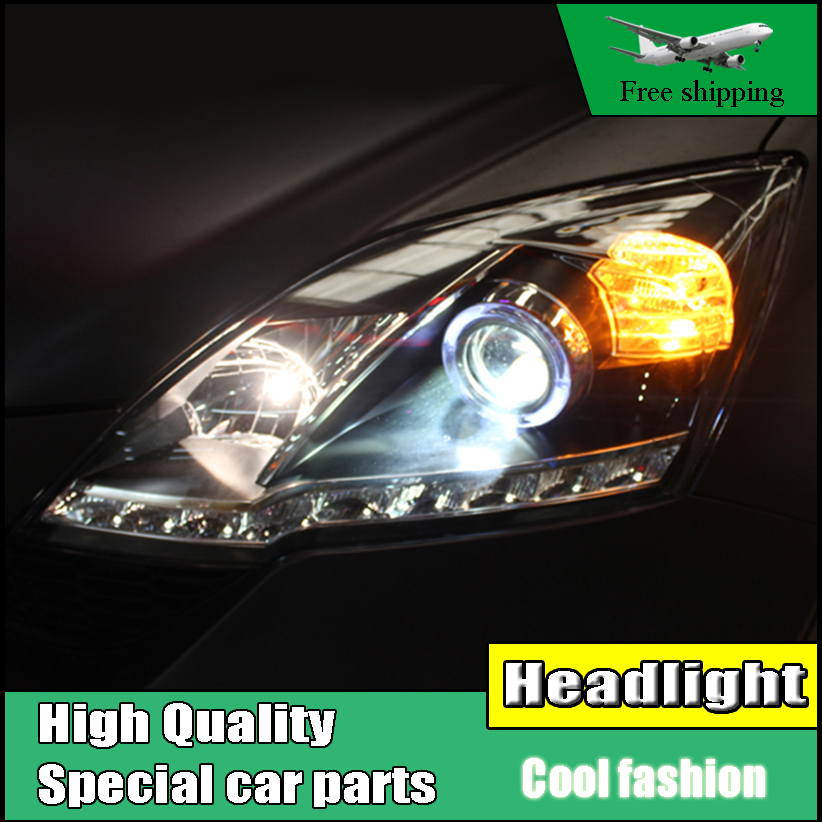 Car Styling Headlight For Honda CR-V CRV headlights 2007-2011 head lamp LED Angel eye DRL front light Bi-Xenon Lens xenon HID 4x6 inch rectangle auto light led headlight replacement hid xenon h4651 h4652 h4656 h4666 h6545 h4 front led headlight with drl