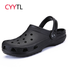 CYYTL 2019 New Men Sandals Summer Shoes Casual Male Slippers Soft Cool Beach Flip Flops Boys Hollow Zapatos de Hombre Chassure