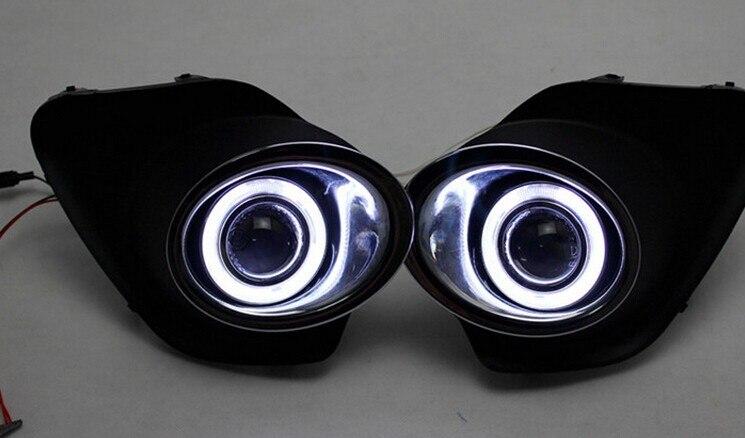 Pour suzuki ALTO 2013 led drl diurne projecteur halogène lentille brouillard lampe ange eye installation exacte 6 couleurs