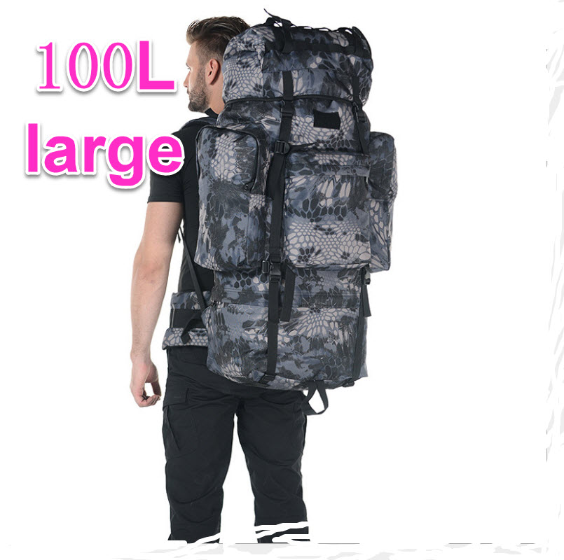 100L very Large Capacity Travel Backpack Mountaineering Bag Waterproof Outdoor Travel Bag Big Backpack A5203 65l professional outdoor mountaineering bag camouflage bag large capacity multi function camping hiking backpack outdoor travel