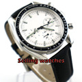 40 мм bliger мужские часы Топ бренд класса люкс модные и повседневные бизнес часы Дата наручные часы Белый стерильный циферблат