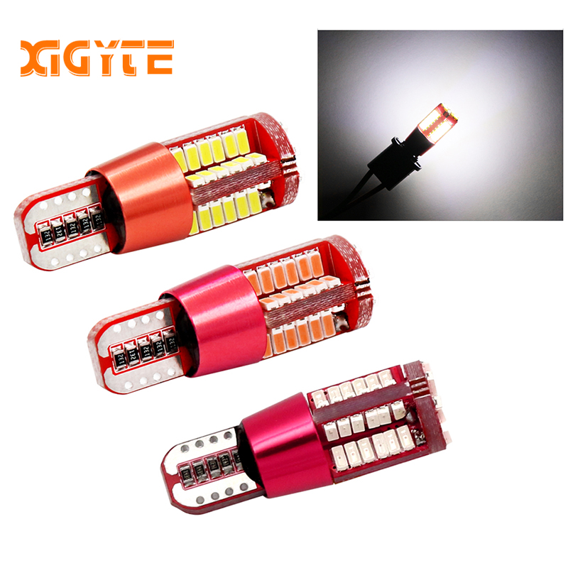T10 <font><b>W5W</b></font> 194 White Canbus OBC Error Free Car Bulb <font><b>LED</b></font> Light Interior Map Read Door License Plate Auto lamps 4014 SMD 57 Chips <font><b>12V</b></font> image