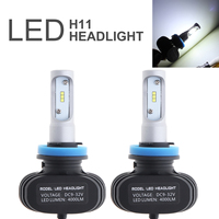 2pcs Super Bright S1 H11 Auto Car Headlight 50W 8000LM 6500K Automobile Fog Lamp CSP LED