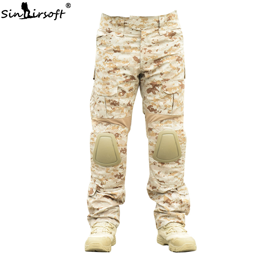 SINAIRSOFT Tactical Pants Military Camouflage Hunting clothes with Knee Pads Outdoor hiking camping Army Fleece Trousers