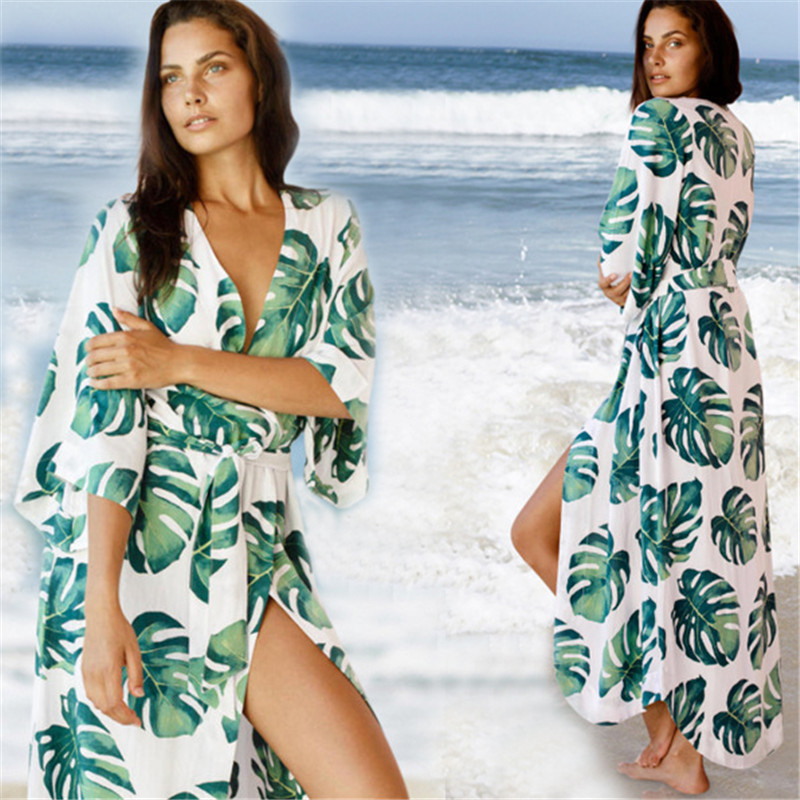 Bicycle Parts Womens Beach Outings 2019 Robe Plage Dress Summer Clothes Bikini Cover Big Skirt Print Acetate Sierra Surfer Pareo Beachwear Products Hot Sale