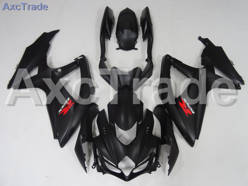 Motorcycle Fairings For Suzuki GSXR GSX-R 600 750 GSXR600 GSXR750 2008 2009 2010 K8 ABS Plastic Injection Fairing Bodywok Black new motorcycle ram air intake tube duct for suzuki gsxr600 gsxr750 k11 2011 2012 abs plastic black