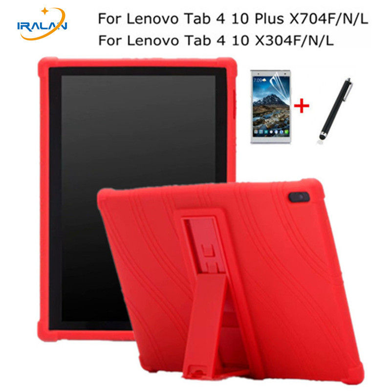 Soft Silicon Back Case for Lenovo Tab 4 10 TB-X304F X304N/L Tablet TPU Shockproof Cover for TAB 4 10 Plus TB-X704F/N/L+Stylus for lenovo tab3 10 for business tb3 70f m tablet case cover 10 1 inch for lenovo tab2 a10 70f l a10 30 x30f film stylus pen