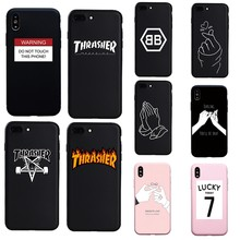 9981320a535 Nueva Funda de silicona suave de advertencia de palabra de fuego Simple para  iphone 7 8