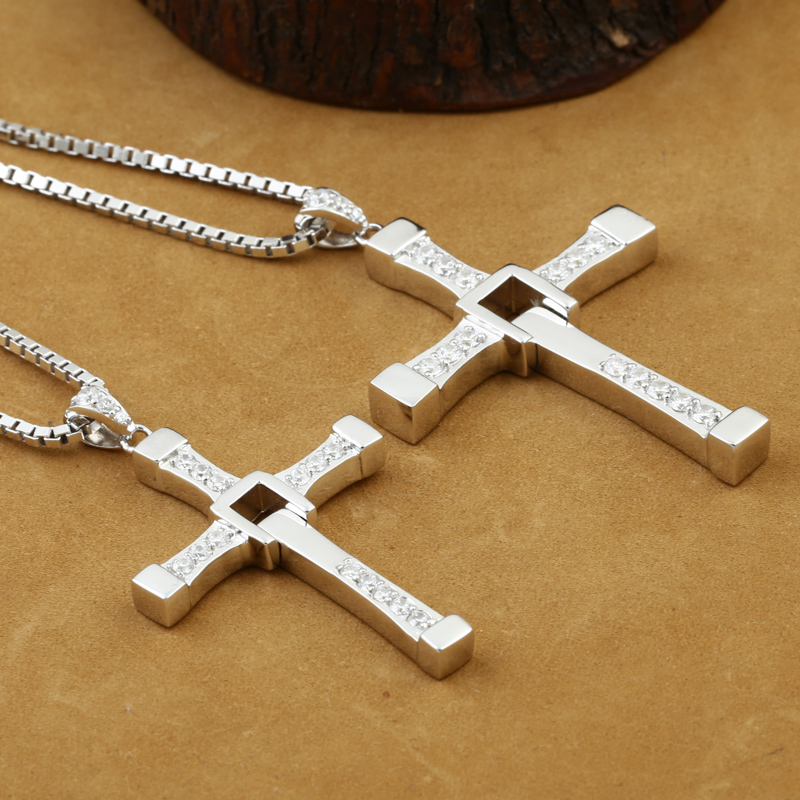 Handcrafted Solid 925 Silver Cross Pendant Carved Vintage Sterling Silver Cross Pendant Cross Jewelry Man Pendant golden cross beach cross body jewelry