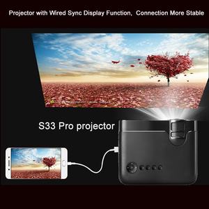 Image 2 - Smartldea AC3 HD 720P מיני מקרן, Wired תצוגת סנכרון אופציונלי, תמיכת 1280x800 2400lumens מולטימדיה LED 3D כיס Proyector