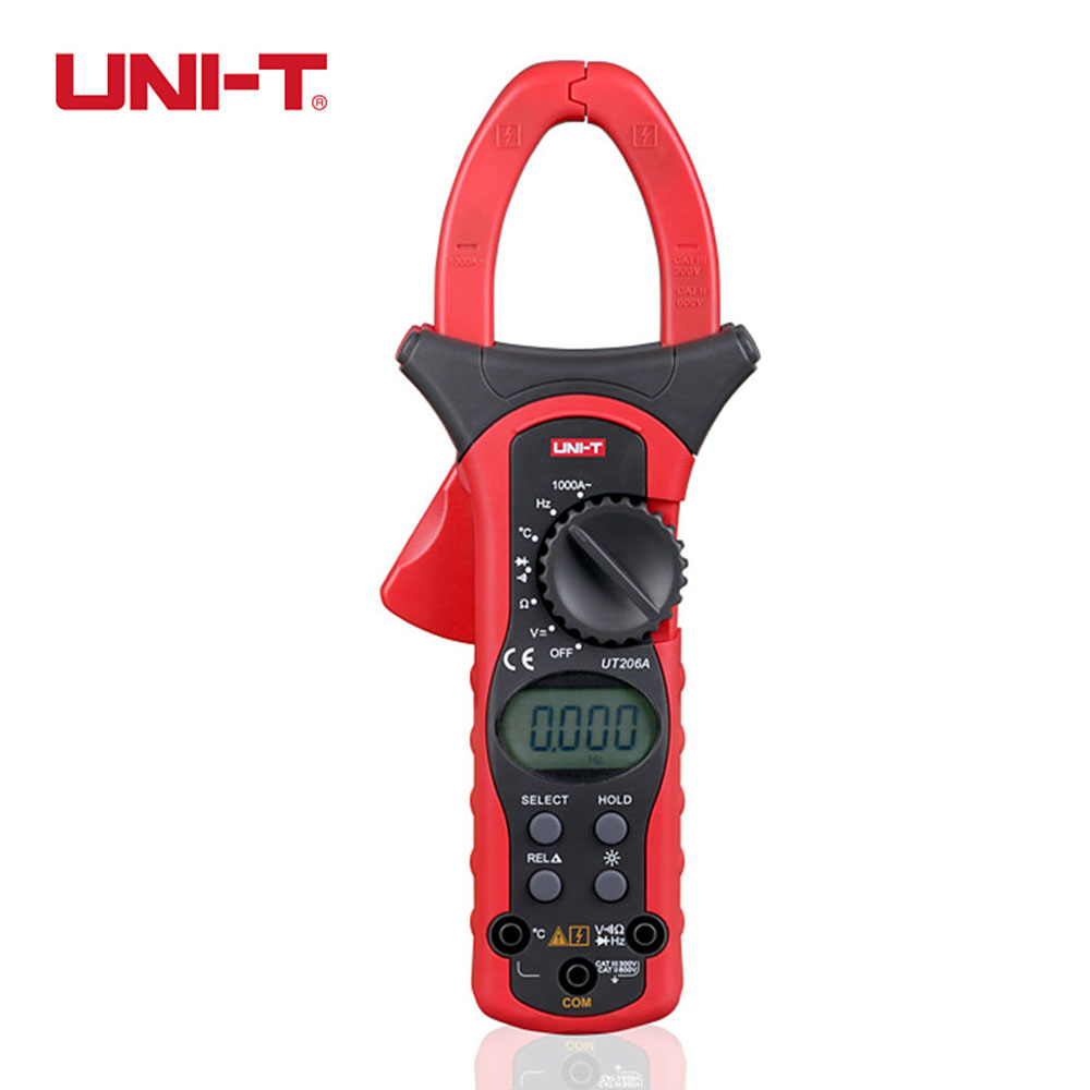 UNI-T UT206A 1000A Digital Clamp Meters Voltage Current Resistance Insulation Tester Earth Ground Uni t Megohmmeter Multimeter