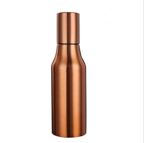1PC New 500ml Oil Dispenser Kitchen Gravy Boat Stainless Steel Oil Leak Proof Kitchen Bottle Soy Sauce Olive J1452-1