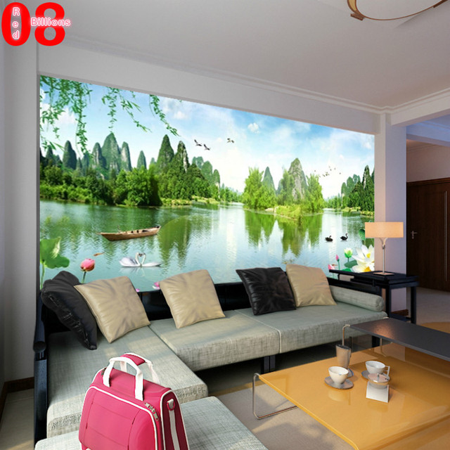 Mural tv background wall wallpapers for living room 3d photo large ...