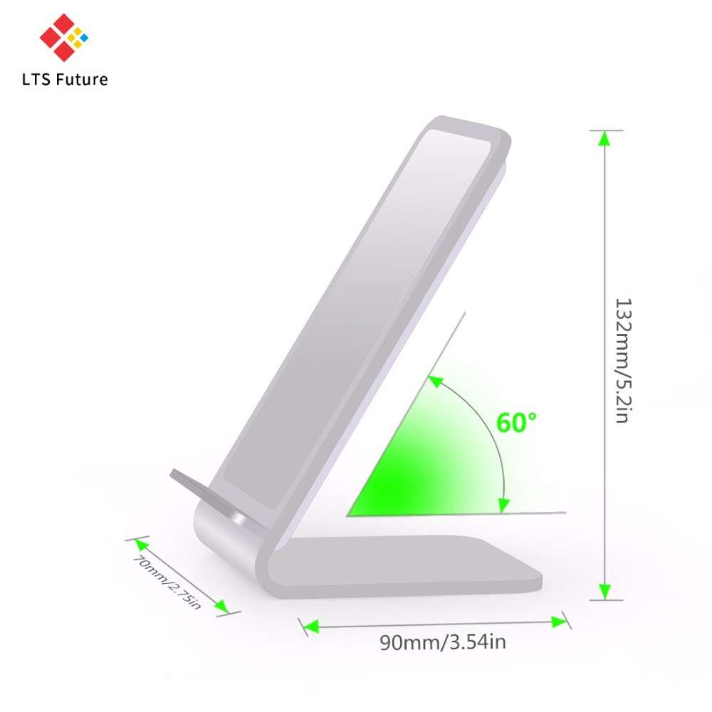 Fast Qi Wireless Charger For Samsung Note 8 Galaxy S8 S7 S6 Wireless Charging Base Holder For Iphone X Wireless Charge Pad Stand