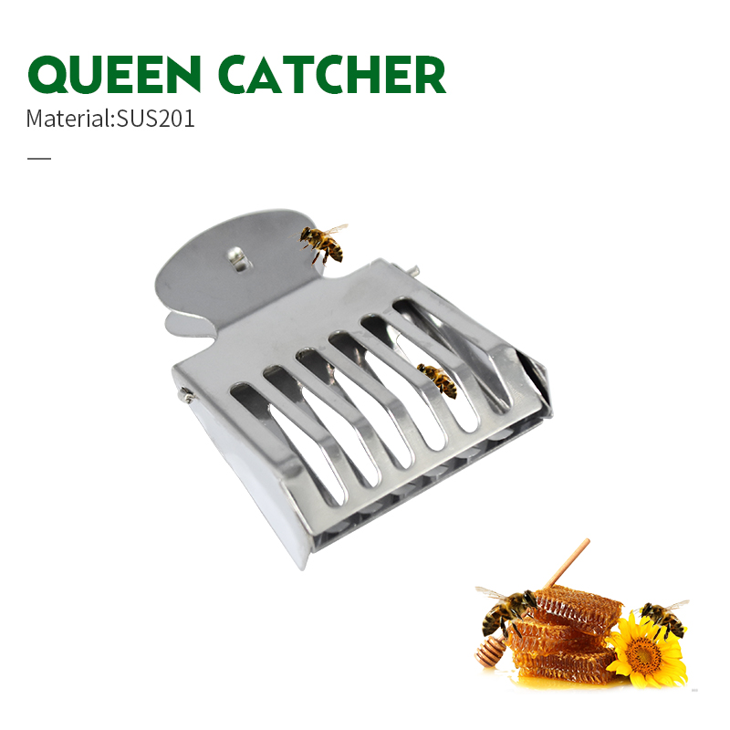 Stainless Steel Beekeeping Queen Bee Catcher Cage Bees Marking Catchers Clip Durable Material Beekeeper Apiculture Tool 2pcs